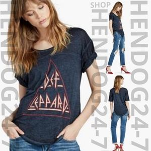 LUCKY BRAND WOMEN'S DEF LEPPARD ROCK OF AGES TEE